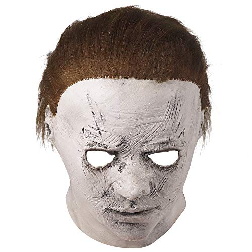 POWER TOY Halloween Horror Costume Party Decoration Props for Adult Michael Myers Brown, Large