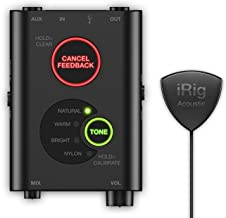 IK Multimedia iRig Acoustic Stage digital microphone system for acoustic guitars and instruments - IP-IRIG-ACOSTG-IN