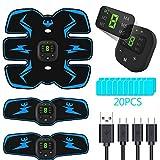 PewinGo Electroestimulador Muscular Abdominales, USB Recargable EMS Estimulador Muscular...