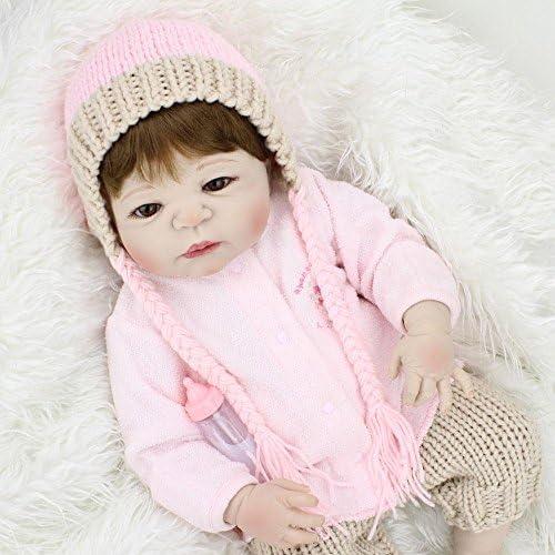 LINAG Babypuppen Reborn Baby Vinyl Silikon Weiß Lebensechte Wirkendes Neugeborene Realistische Wiedergeboren Spielkameraden Simulation mädchen Junge Spielhausspielzeug Prinzessin 5cm Doll-61144