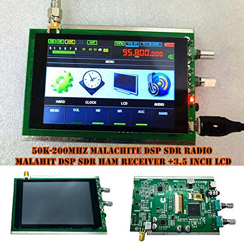 DOTU Receiver, 50K-200MHz Malachite SDR Radio Malahit SDR Ham Receiver with 3.5 Inch LCD for CD Player Tuner MP3 Home Theater Receiver