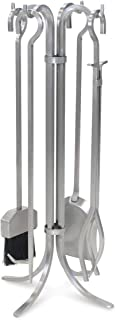 Pilgrim Home and Hearth 18092 Newport Fireplace Tool Set, Stainless Steel