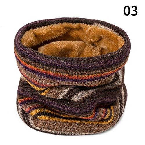 JLDJWSJD Winter-Schal für Frauen-Mann starker warmen Strick Ring Schal Druck Halstücher Cotton Soft C