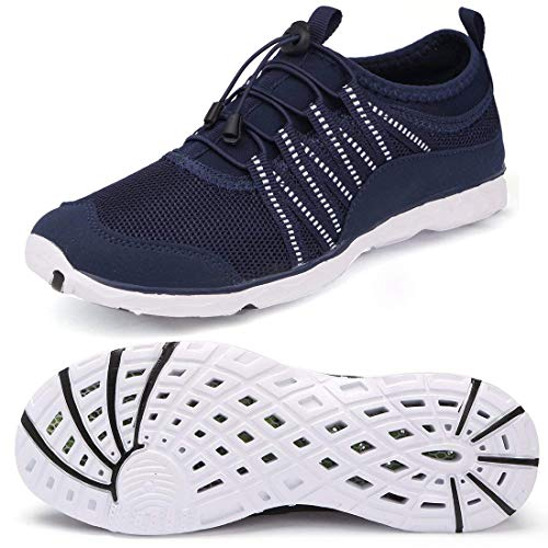 Alibress Women's Beach Shoes Outdoor Quick Drying Summer Ladies Water Shoes River Hiking Lightweight Aqua Shoes for Women Blue Navy 9 M US