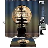 HarsonundJane Duschvorhang Digital-Printing Wasserdichten Duschvorhang Mit 12 Stück Haken Größe 180*180cm