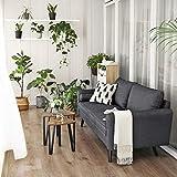 VASAGLE Sofa 3 Sitzer, Couch mit Bezug aus Leinenimitat, 180 x 82 x 83 cm, Polstermöbel für kleine Wohnungen, Gästezimmer, Jugendzimmer, mit Holzgestell, einfacher Aufbau, grau, LCS10GY - 6