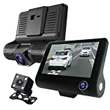 Broadwatch 最新版 3カメラ ドライブレコーダー フルハイビジョン 360° 全景 駐車監視 ループ録画 車内外多角度撮影