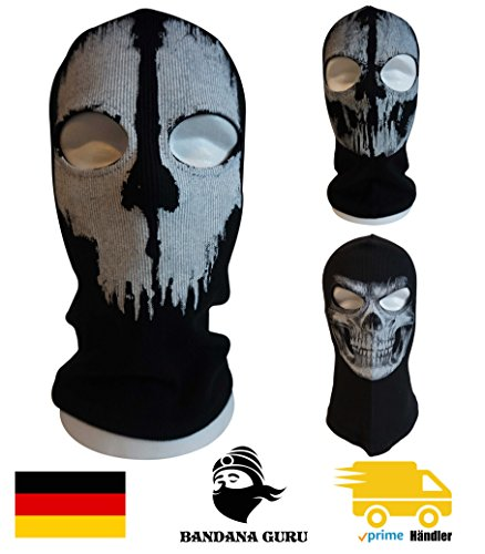 Bandana fantasma Guru pasamontañas, Máscara de calavera, Mascara Esqui, Máscara de motocicleta, Máscara de snowboard para deporte al aire libre Paintball