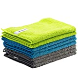 FIXSMITH Microfiber Cleaning Cloth - Pack of 8, All-Purpose Cleaning Towels,...