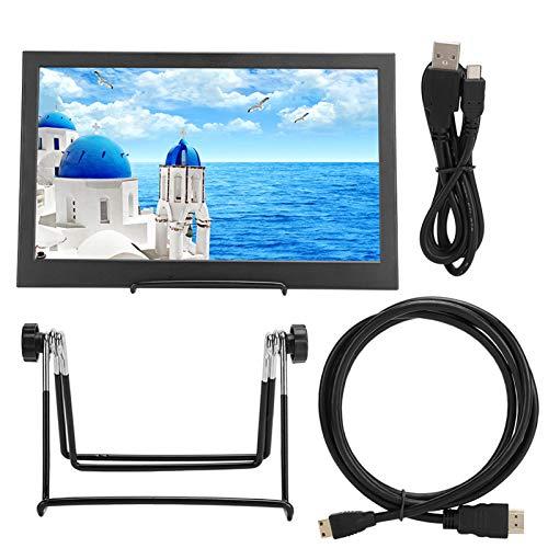 Monitor Delgado portátil de 14 Pulgadas 16: 9 1366 X 768 Pantalla TFT HD con Doble Mini HDMI para Monitor PS4 portátil Actualización UPERFECT Monitor móvil de 14 Pulgadas