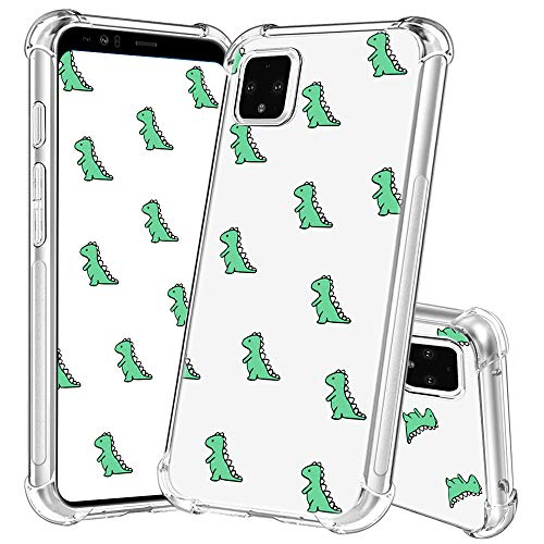 Google Pixel 4 Phone Case,YESPURE Cute Dinosaur Pattern Design Printed Slim Crystal Clear TPU Air Cushion Scratch Resistant Rugged Protective Case for Google Pixel 4 (Cute Dinosaur A01)