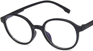 Unisex Glasses Frame Retro Bright Black Oval Full Frame Decoration Prescription Glasses