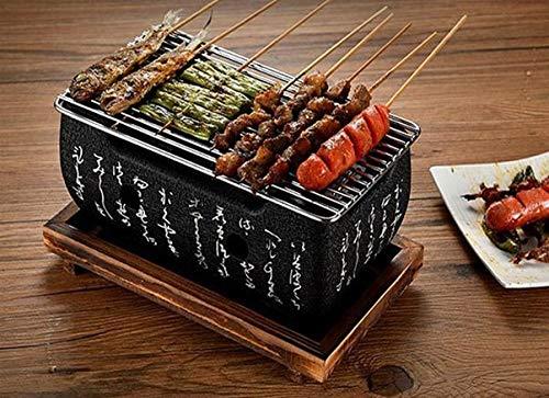 Amania Trading Ltd Higoshi Japanischer Grill, für große Tischplatte, Holzkohlegrill
