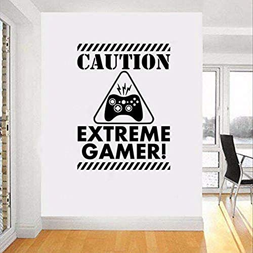 Funny gaming character wall sticker man cave decal eat sleep game gamer tag