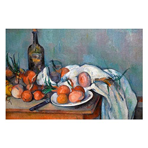 Paul Cezanne, Still Life with Onions and A Bottle Jigsaw Puzzle 1000 Piece, Puzzle Game Artwork for Adults Teens Kids Children 20