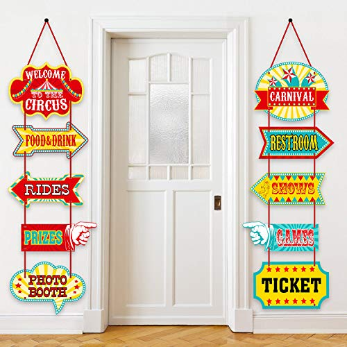 Carnival Booth Signs (10 Pieces)