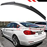 Cuztom Tuning Fits for 2014-2020 BMW F36 4 Series Gran Coupe 4 Door Carbon Fiber Highkick M4 Style Trunk Lid Spoiler Wing