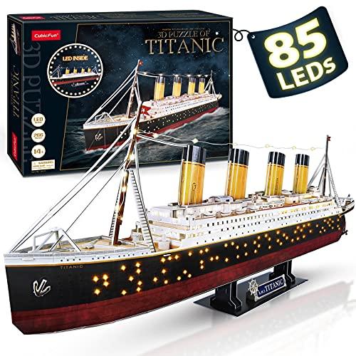 2. El Titanic - Puzzle 3D con luces LED