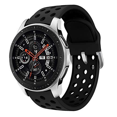 Syxinn Compatibile con 22mm Cinturino Galaxy Watch 46mm Braccialetto Gear S3 Frontier/Classic Silicone Cinturini Polso Band per Gear S3/Huawei Watch GT/GT 2 46mm/Moto 360 2nd Gen 46mm/Ticwatch PRO