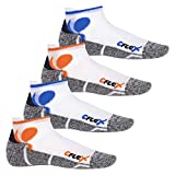 CFLEX - 4 pares de calcetines tobilleros para correr - Blanco/multicolor - 39/42