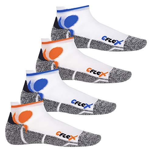 CFLEX - 4 pares de calcetines tobilleros para correr