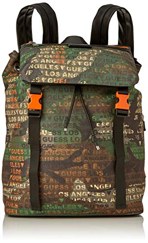 Guess SALAMEDA Backpack, Mochila para Hombre, Camouflage, Un tamaño