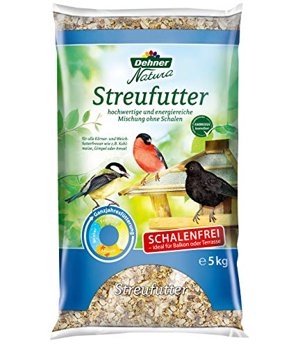 Dehner Natura Wildvogelfutter, schalenfreies Streufutter, 5 kg