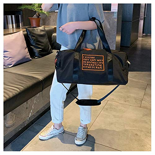 Large Sports Bag Running Bag Unisex Duffel Gym Bag Waterproof 36-55L Large Capacity Sport Travel Luggage Bag Fitness Rucksack Cross Body Shoulder Bag Cabin Handbag With Shoe Compartment For Men Women