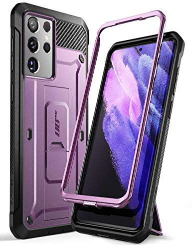 SUPCASE Unicorn Beetle Pro Series Case Designed for Samsung Galaxy S21 Ultra 5G (2021 Release), Full-Body Dual Layer Rugged Holster & Kickstand Case Without Built-in Screen Protector (Violte)