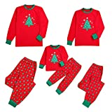 Snakell Baby Kinderkleidung Baby Kinder Jungen Mädchen Bekleidung Weihnachten Set, Familien Schlafanzug Xmas Pyjama Weihnachtsbaum Schneeflocke Bluse + Lange Hosen Nachthemd Nachtwäsche...