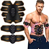 Muscle Stimulator,Ems Abs Trainer,Abs Stimulator Muscle Toner,Home Gym Belt,Abdominal Toning Belt Muscle Trainer,Portable Fitness Trainer for Abdomen,Arm and Leg,with 6 Modes & 9 Levels Operation