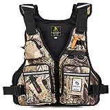 Roeam Herren Weste, Outdoor Multifunktionsweste Angelweste Jagdweste Taktische Weste mit Multi-Pockets und Wasserflaschenhalter