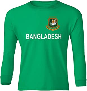 SMARTZONE Cricket Bangladesh Jersey Style Fans Supporterr Youth Long Sleeve T-Shirt