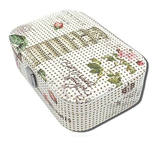 Haus und Deko Hogar y Decoración Joyero abschließbar Piel sintética Joyas Box 1Nivel Joyero–Romantik Diseño