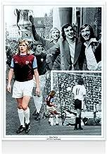 Alan Taylor Signed Photo - West Ham Montage Black/White Autograph - Autographed Soccer Photos