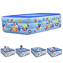 USE FOR HOME & OUTDOORS: inflatable baby bathtub portable mini swim pool, anti-skid design of bottom and inner center cushion, ensure the safety and comfort of your baby. Very soft and safe for your baby, have a great bath time. USE AS: inflatable ba...