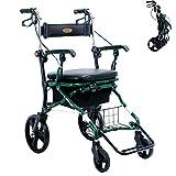 Deambulatori A 4 Ruote con Deambulatore Telaio di Supporto per Camminatori Deambulatori per Adulti Pieghevoli Altezza Regolabile Deambulatore Stand per Anziani E Disabili