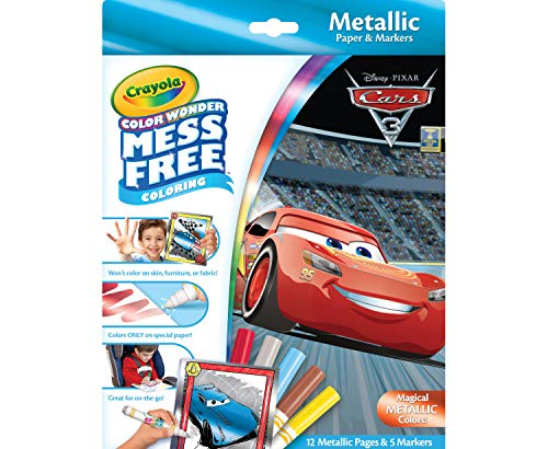 Crayola Color Wonder Cars 3, Mess Free Coloring, 12 Pages, 75-2450