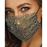 Fairvir Rhinestone Face <span class='highlight'>Mask</span> <span class='highlight'>Gold</span> Crystal Mesh <span class='highlight'>Mask</span> <span class='highlight'>Masquerade</span> <span class='highlight'>Mask</span>s Glitter Party Nightclub Costume ball Jewelry for Women and Girls