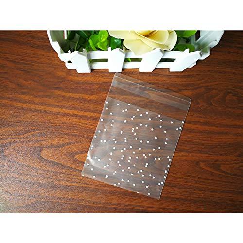 DishyKooker 100 stuks 10x10 cm mooie wrappers zelfklevende tas voor snoep zeep koekjes opslag
