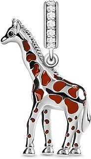 Émail alliage Jungle girafe bijoux Set Boucles d/'oreilles Collier Pour Femmes Fille Cadeau