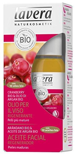Lavera Aceite Facial Regenerador - Con 10 aceites bio - Arándano bio & Aceite de argán bio - vegano - cuidado facial biológico - cosméticos naturales 100% certificados - 30 ml