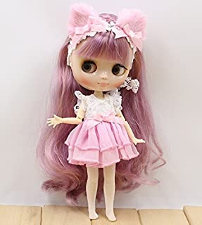 Studio one Pink Dress Cat ear Cloth For1/8 20 cm doll Middie Blythe Doll best gift