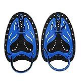 GOTOTOTOP - Pinne per immersioni, 2 colori, per nuoto, immersioni, snorkeling e così via (M, blu)