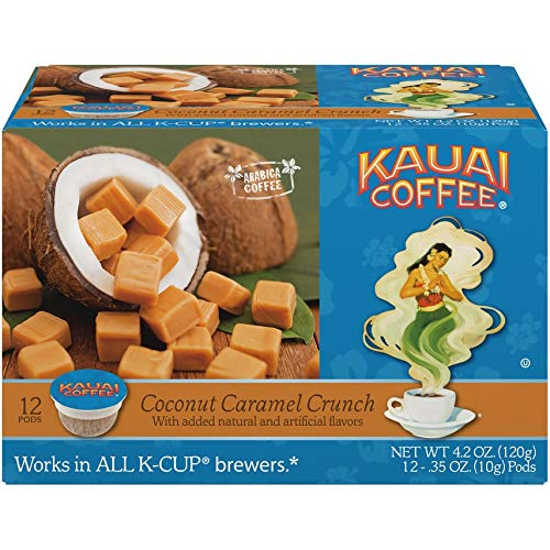 Coconut Caramel Crunch Flavor – 100% Premium Arabica Coffee, 12 PODS