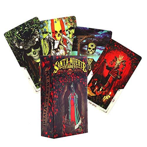 CADANIA Tarot 78 Pieces Cards Santa Muerte Tarot Deck Book of The Dead Family Party Board Game