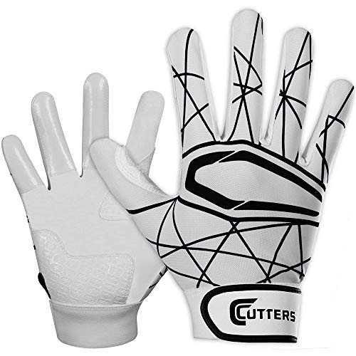 Cutters Gloves Adult Lead Off 2.0 Batting Gloves, White/Black, Medium