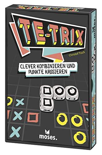 Moses 90137 Te-Trix | Clever Kombinieren und Punkte Kassieren | Würfelspiel ab 8 Jahren, Mehrfarbig