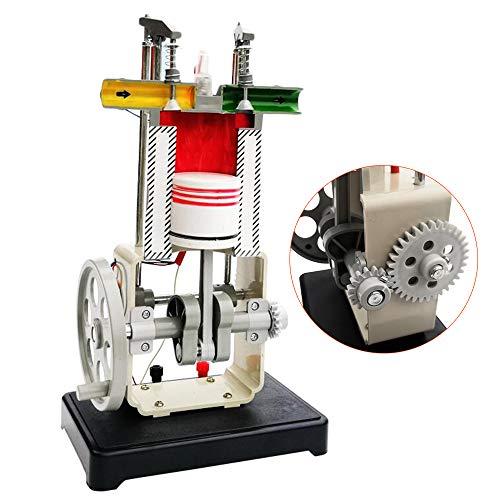 LUCKFY Benzin Motor-Modell Viertakt-Klein Kraftstoff Motor Verbrennungsmotor Modell für Schullehrmittel Ausrüstung Laborbedarf