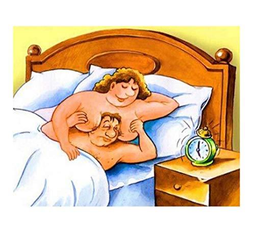 Hombre Desnudo Y Esposa Diamante Pintura Taladro Redondo Completo Mosaico Imágenes De Diamantes De Imitación 5D Diy Diamante Bordado Venta 25x30cm